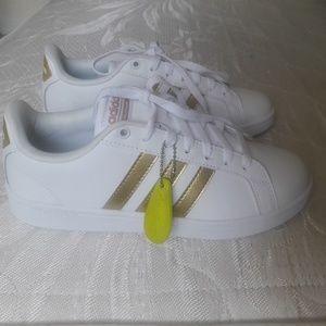 Adidas white-gold Cloudfoam